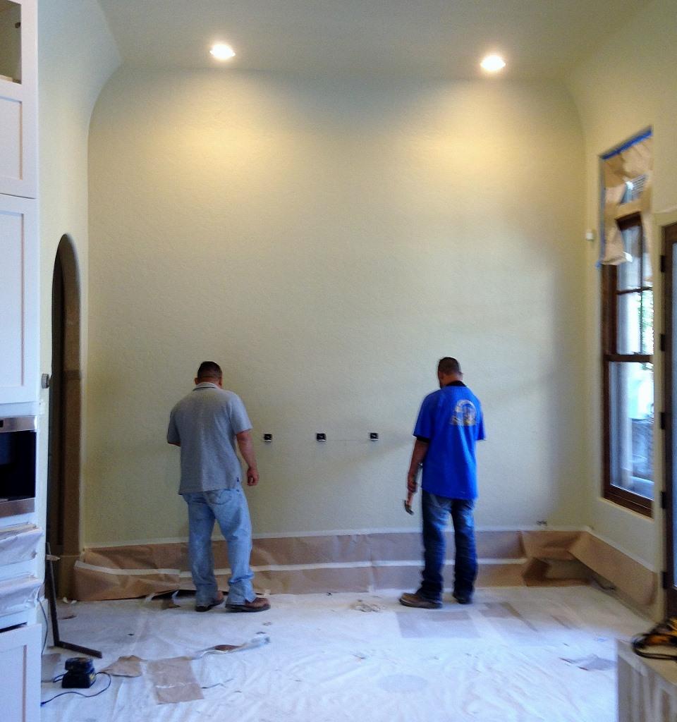 Wall preparation quartzite art