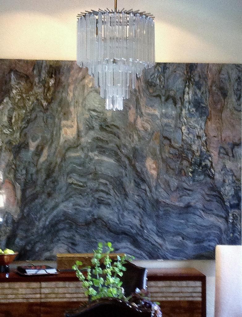 Quartzite art on wall