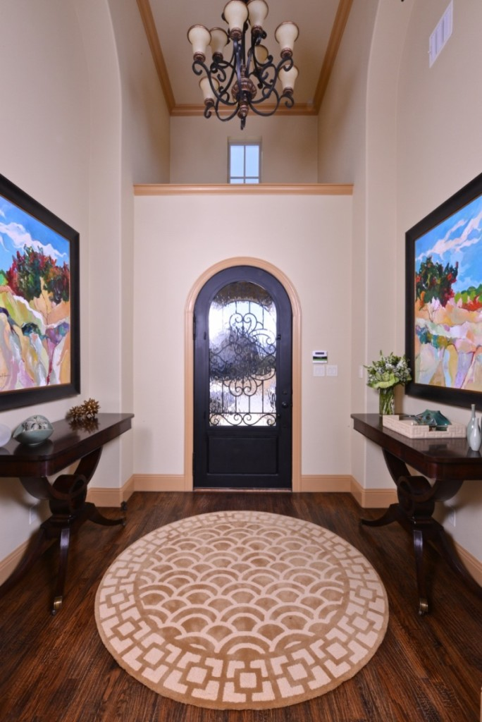 transitional entry hall