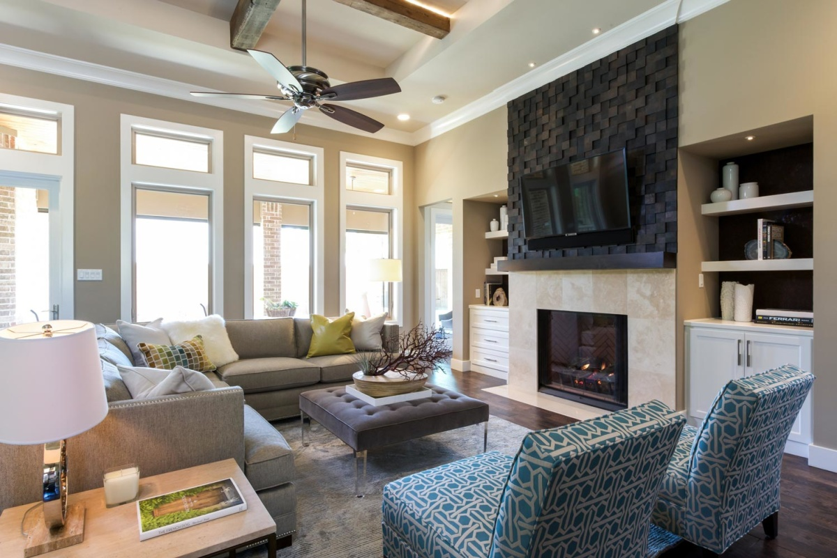 Eco home dallas living room interior