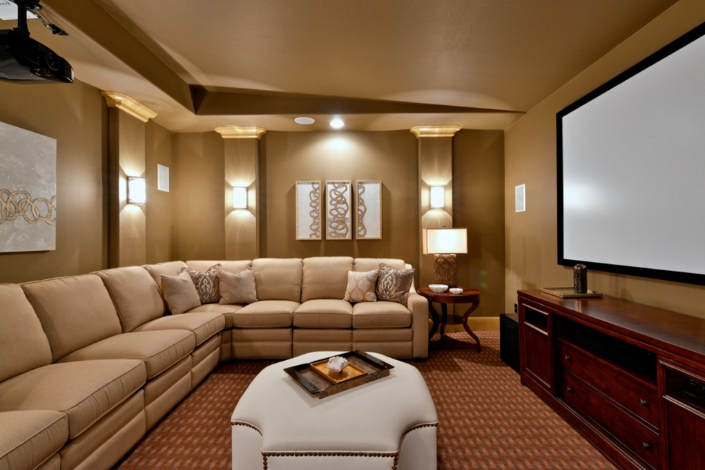 This space designed by Barbara Gilbert Interiors won a Best of Houzz 2016 award for  home theaters.