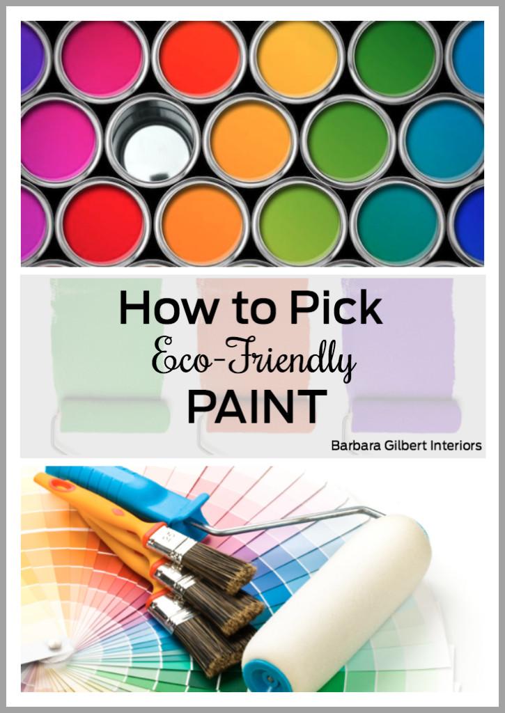 How to Pick Eco-Friendly Paint | Barbara GIlbert Interiors