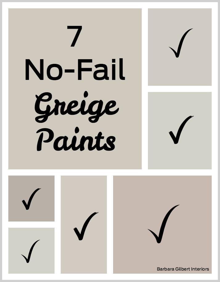 7 No Fail Greige Paints