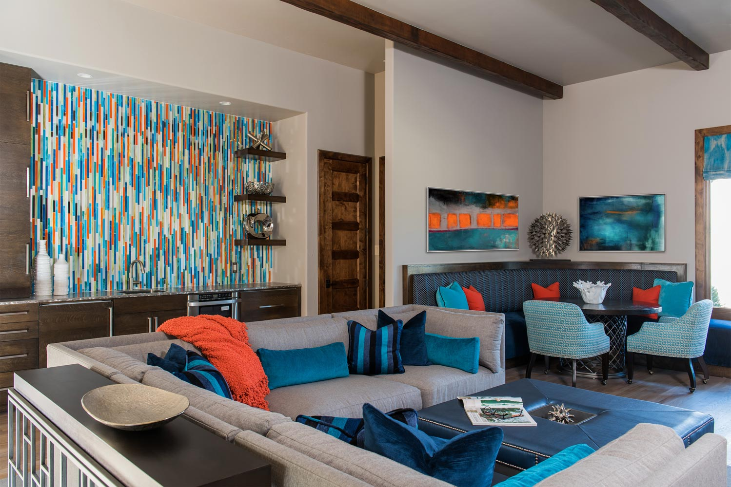 Colorful Keller Contemporary | Interior Design Dallas | Barbara ...