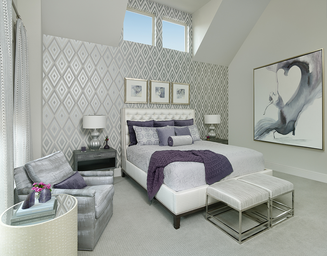Bedroom Design Ideas: The Power of Purple | Barbara Gilbert Interiors | Interior Design Dallas