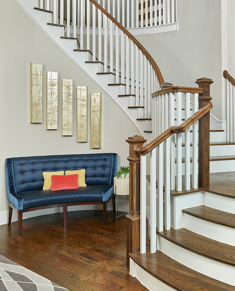 25 Unique Staircase Designs To Take Center Stage In Your Home: Contemporary Interior Design In Dallas