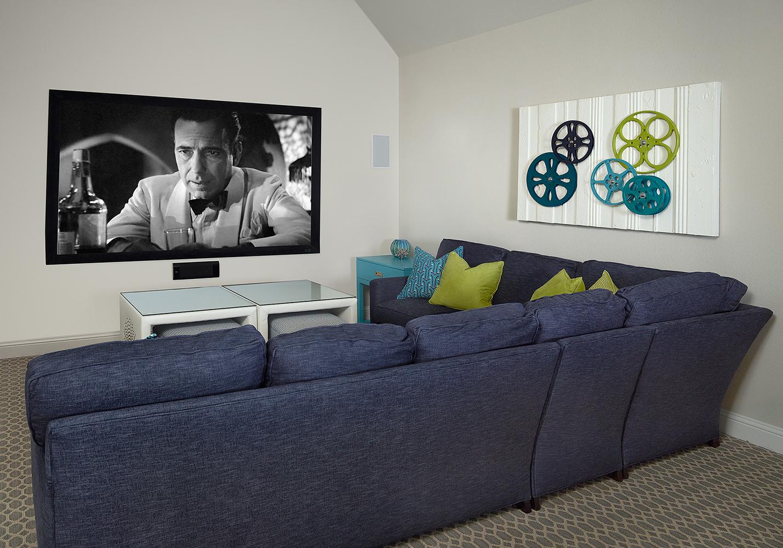 Interior Design Dallas Home Theatre by Barbara Gilbert
