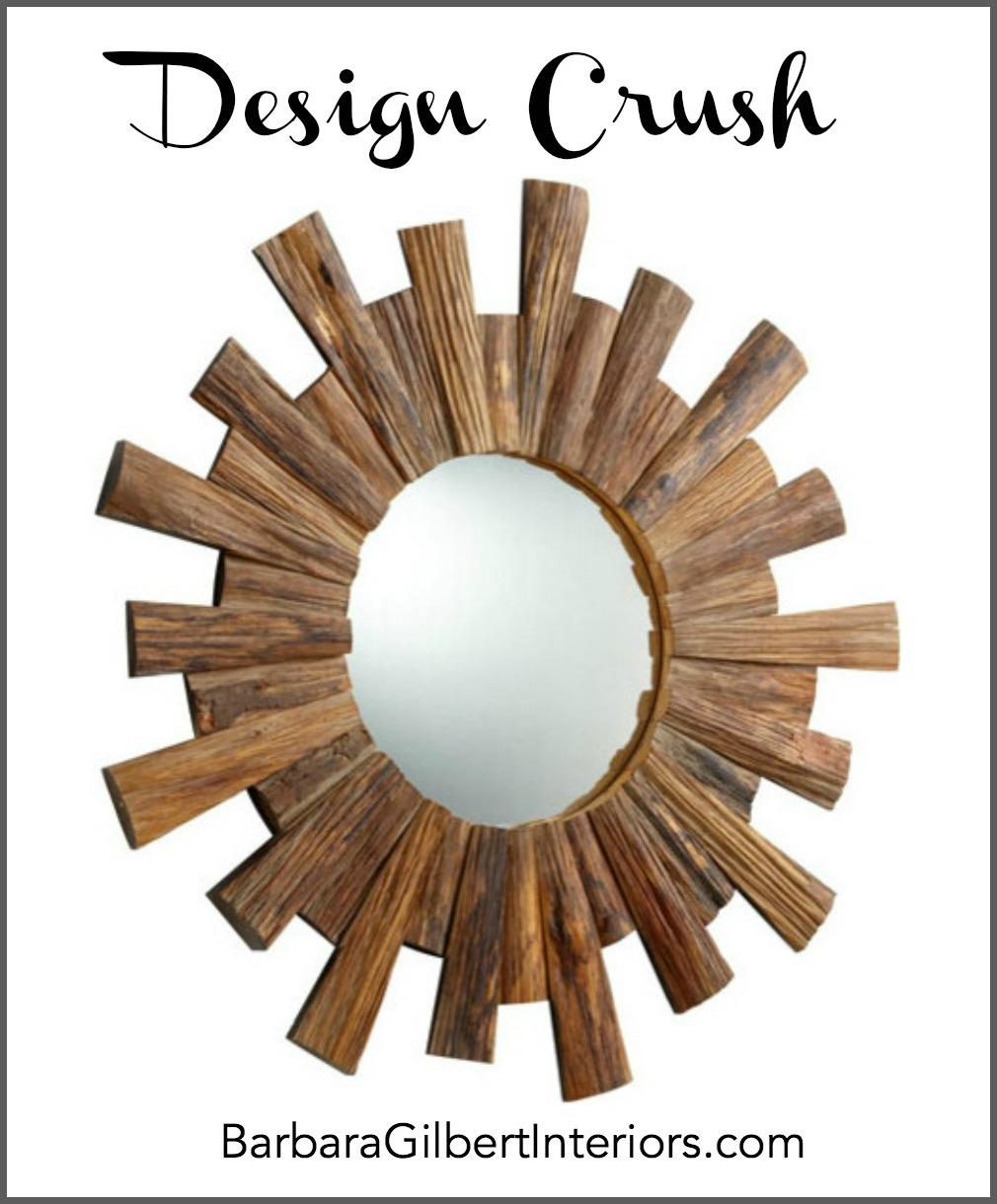 Sunburst Round Mirror | Interior Design Dallas | Barbara Gilbert Interiors