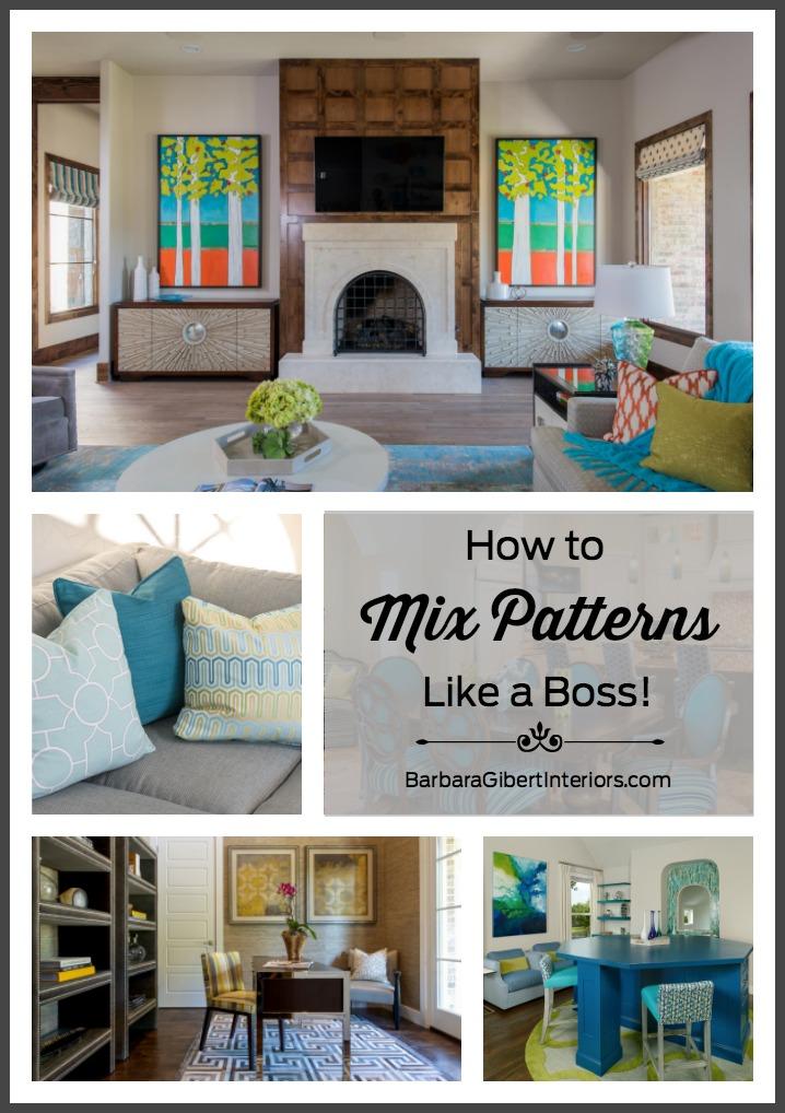 How to Mix Patterns Like a Boss   Interior Design Dallas   Barbara Gilbert Interiors
