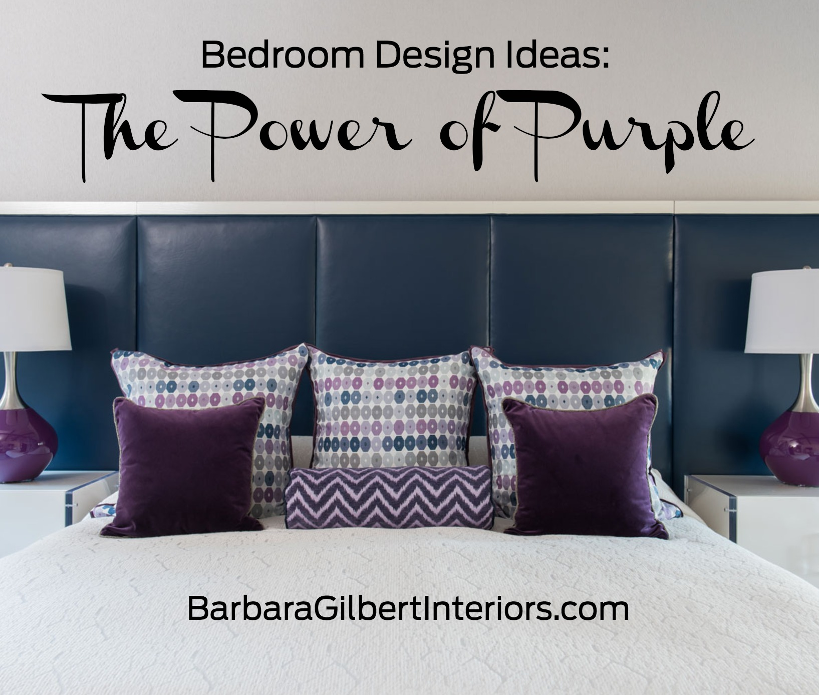 Bedroom design ideas the power of purple barbara for Passionate bedroom designs