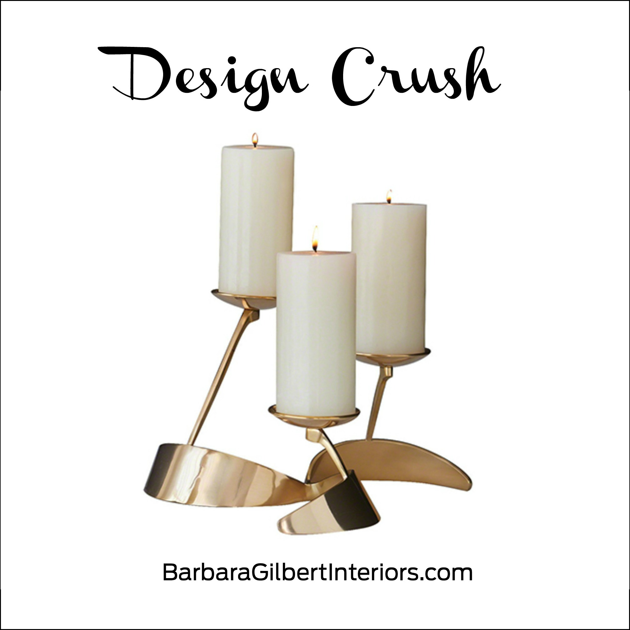 Design Crush: Pinwheel Candleholder | Interior Design Dallas | Barbara Gilbert Interiors