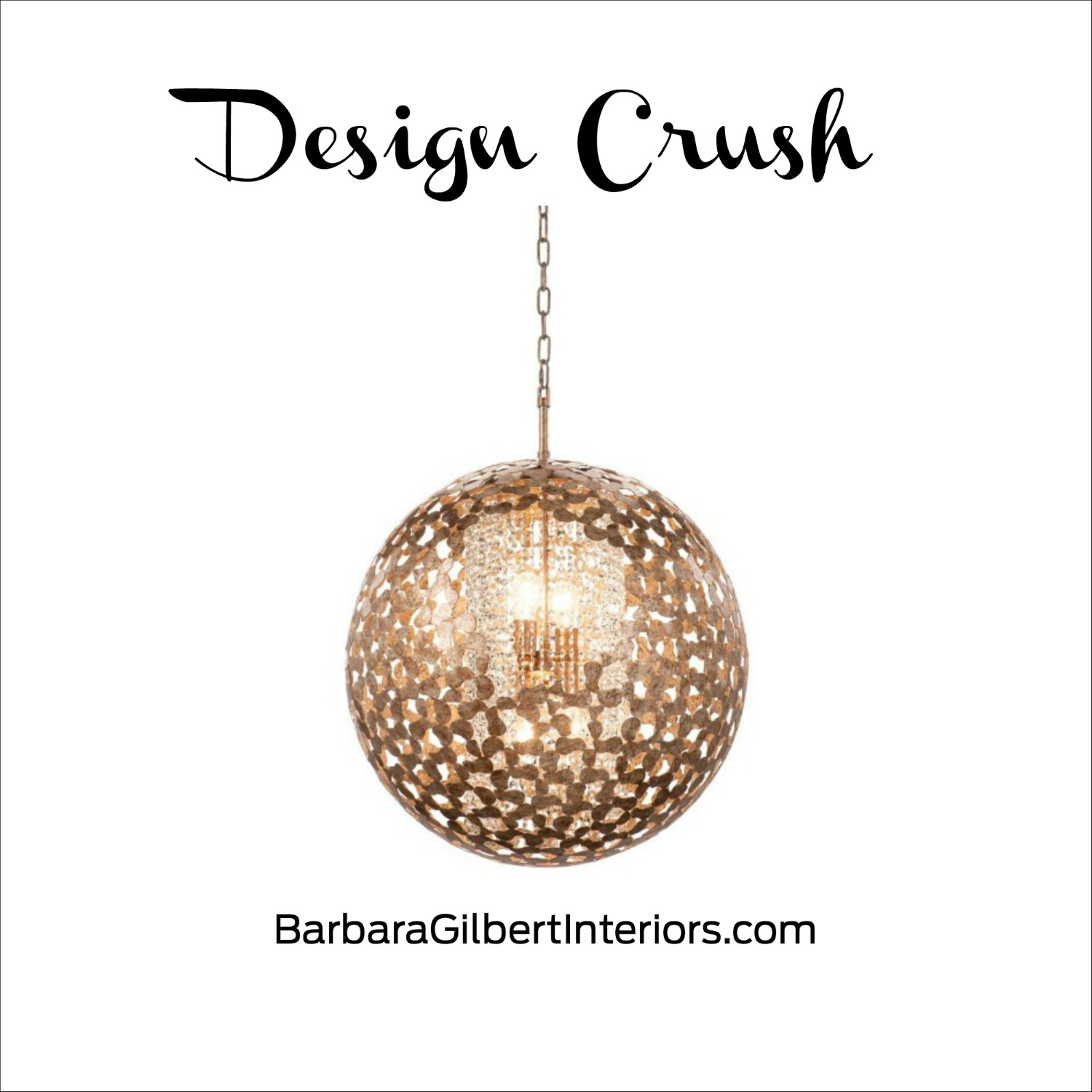 Design Crush Modern Gold Chandelier