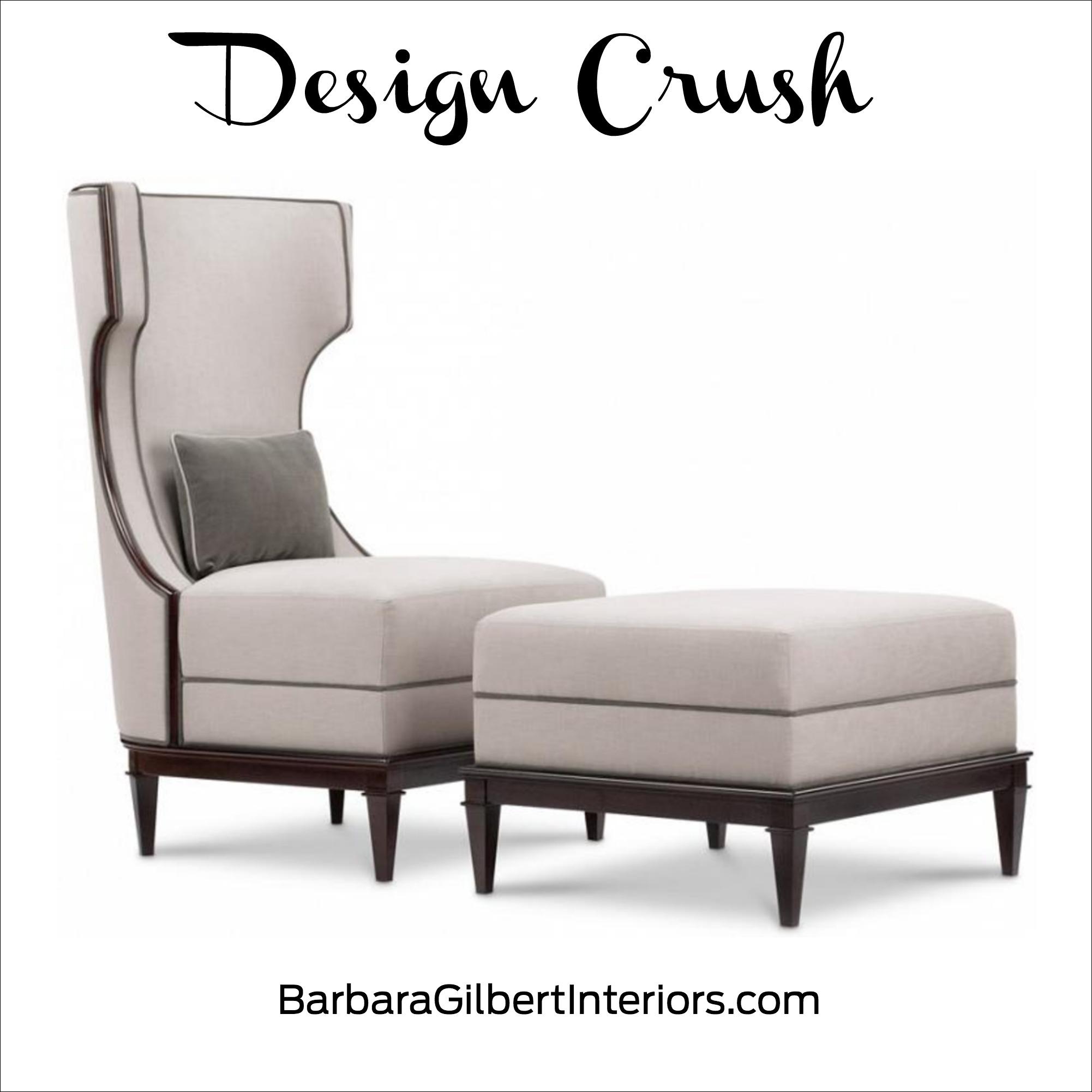 Design Crush: Demi Wing Chair | Interior Design Dallas | Barbara Gilbert Interiors