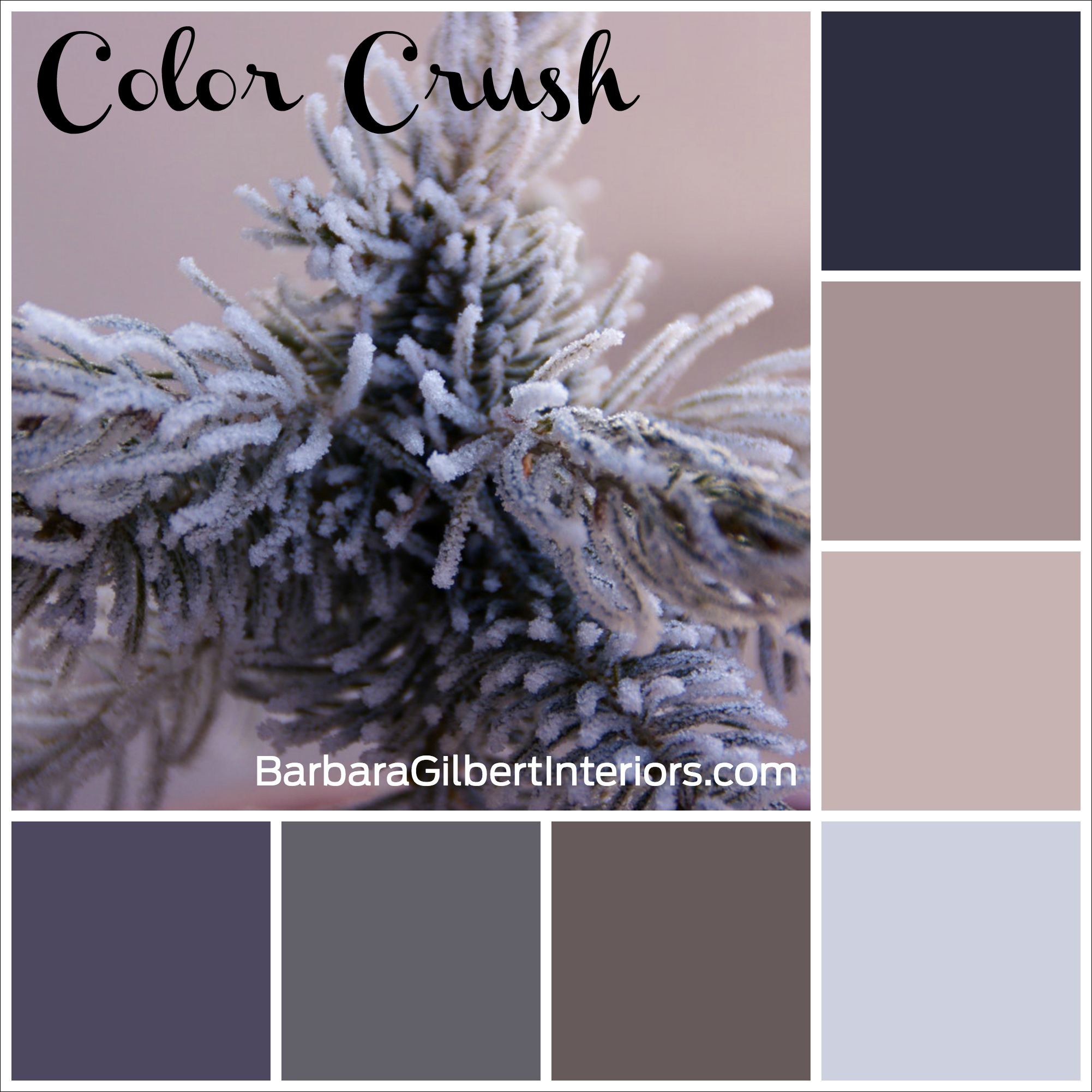 Color Crush: Frosty Winter Tree | Interior Design Dallas | Barbara Gilbert Interiors