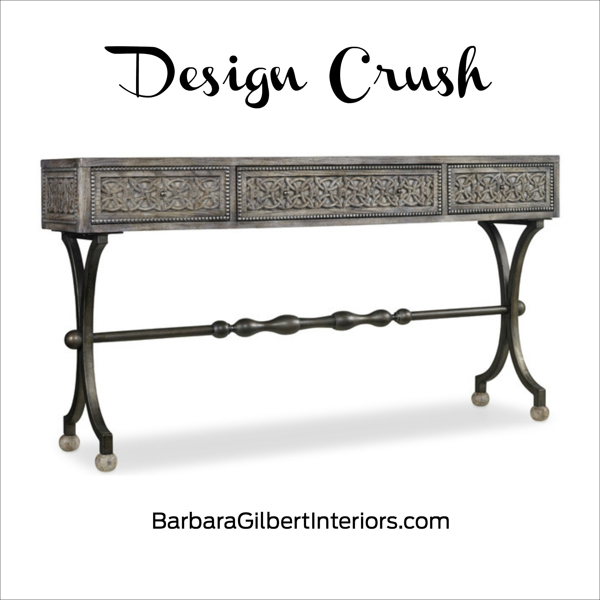 Design Crush: Intricate Entry Table | Interior Design Dallas | Barbara Gilbert Interiors
