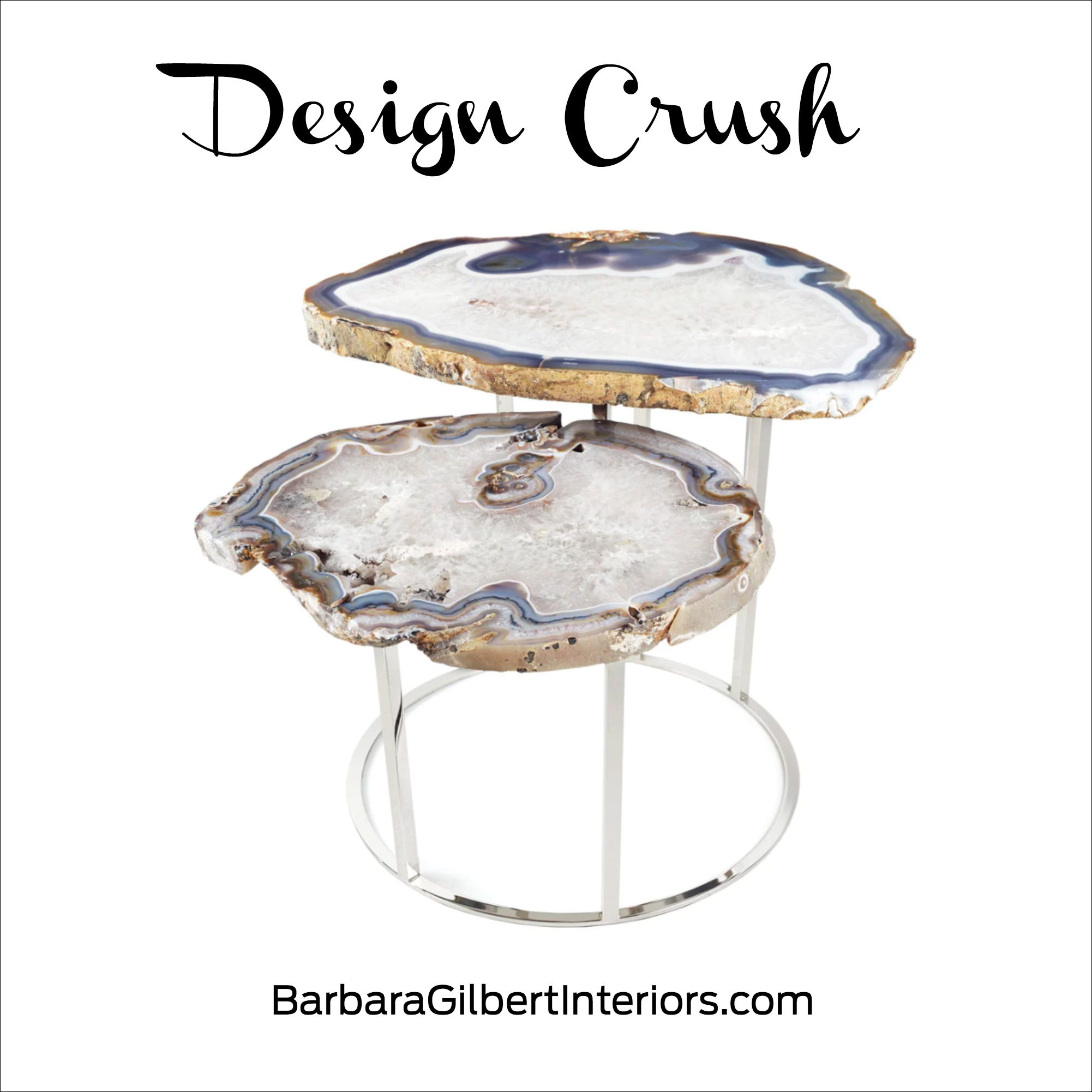 Design Crush: Quinn Agate Coffee Table | Interior Design Dallas | Barbara Gilbert Interiors