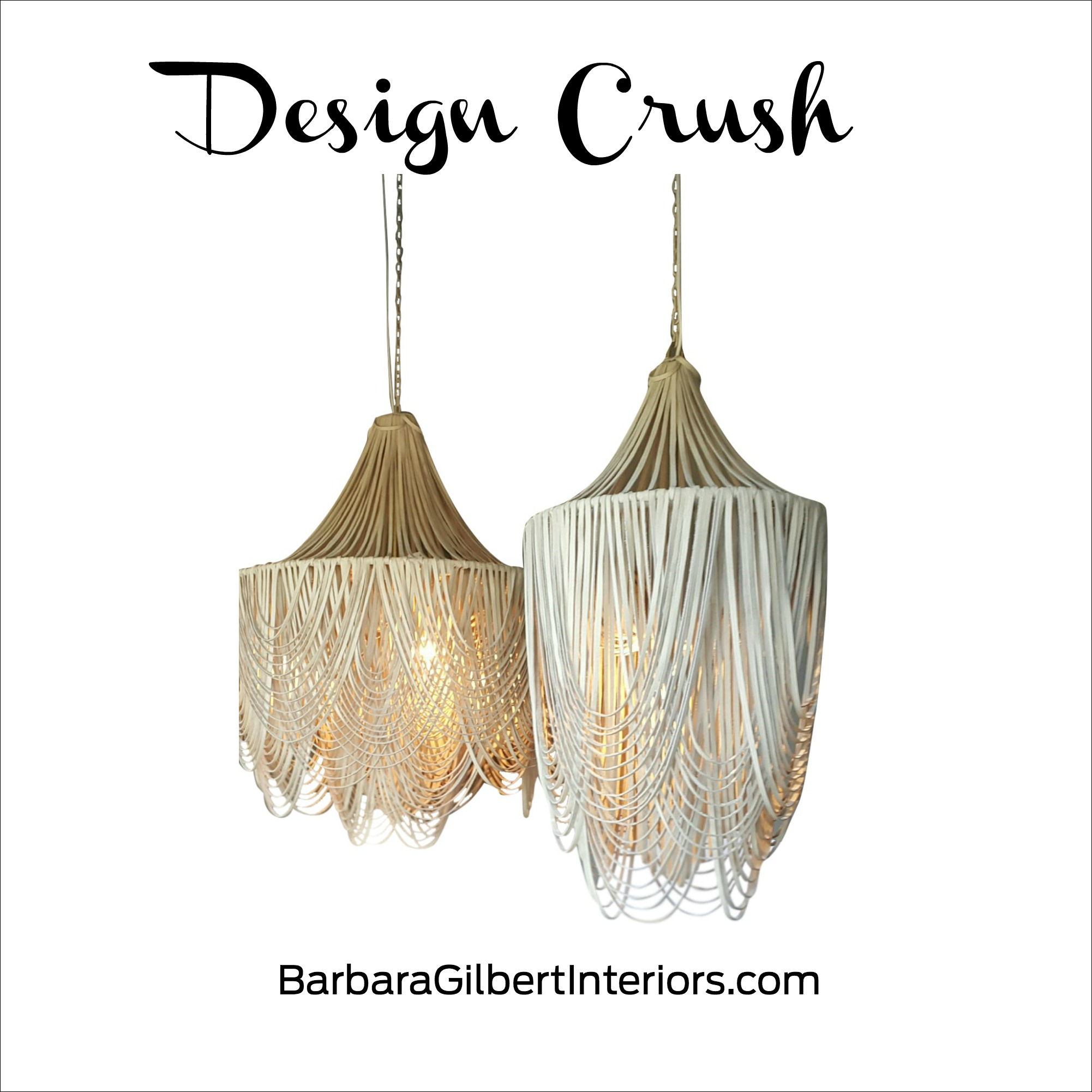 Design Crush Whisper Leather Chandelier | Interior Design Dallas | Barbara Gilbert Interiors