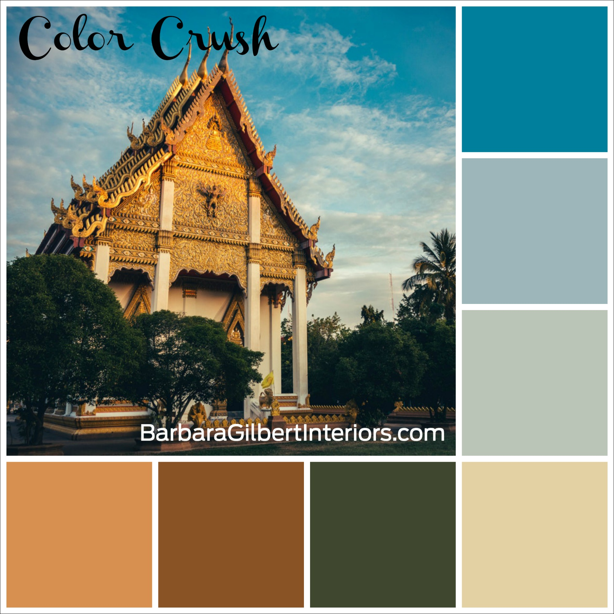 Color Crush: Thai Temple | Interior Design Dallas | Barbara Gilbert Interiors