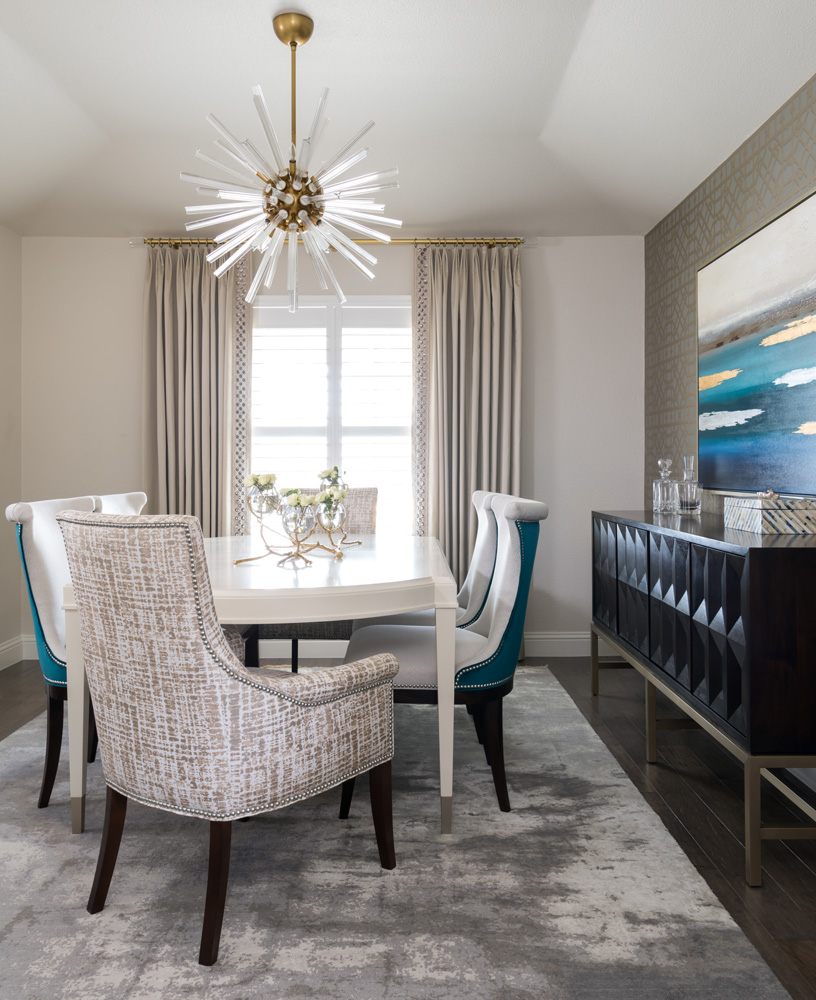 Simple Dining Room Decor For A Transitional Season: Transitional Décor Done Right In Dallas