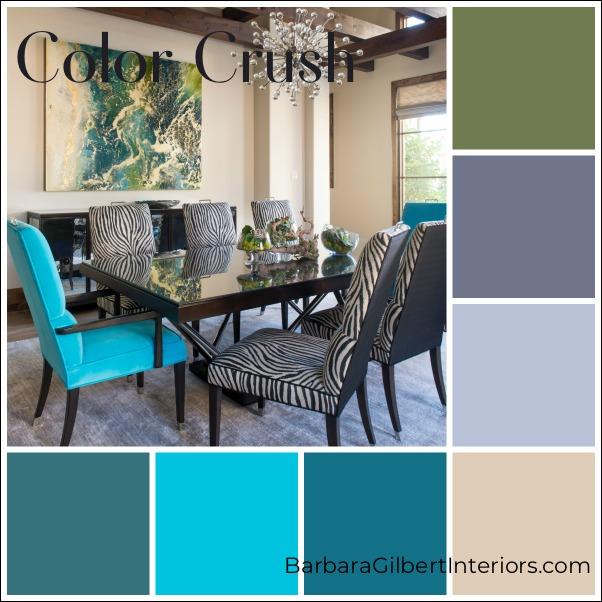 Color Crush: Colorful Dining Room   Interior Design Dallas   Barbara Gilbert Interiors