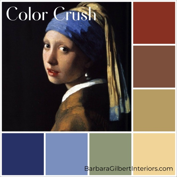 Color Crush: Vermeer Painting | Interior Design Dallas | Barbara Gilbert Interiors