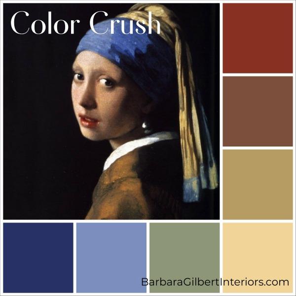 Color Crush: Vermeer Painting | Interior Design Dallas | Barbara Gilbert Interiors