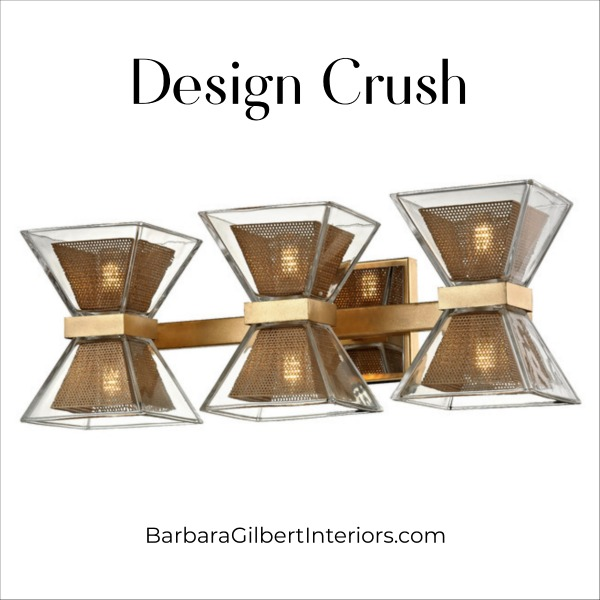 Design Crush: Geometric Bath Sconce | Interior Design Dallas | Barbara Gilbert Interiors