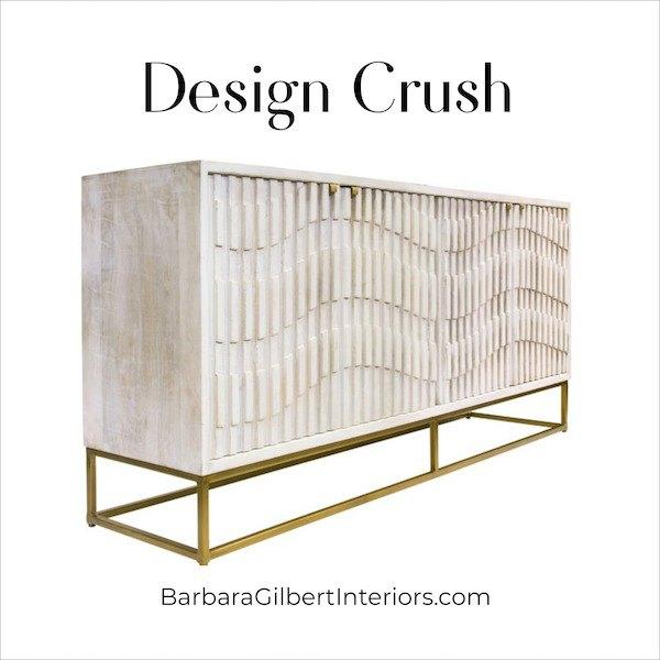 Design Crush: Marvelous, Modern Console | Interior Design Dallas | Barbara Gilbert Interiors